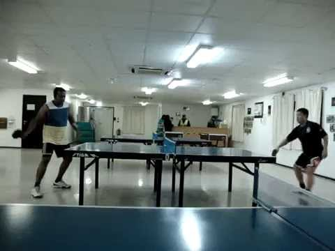 India vs. Philippines table tennis match (AMWAJ Camp, Doha, Qatar.)