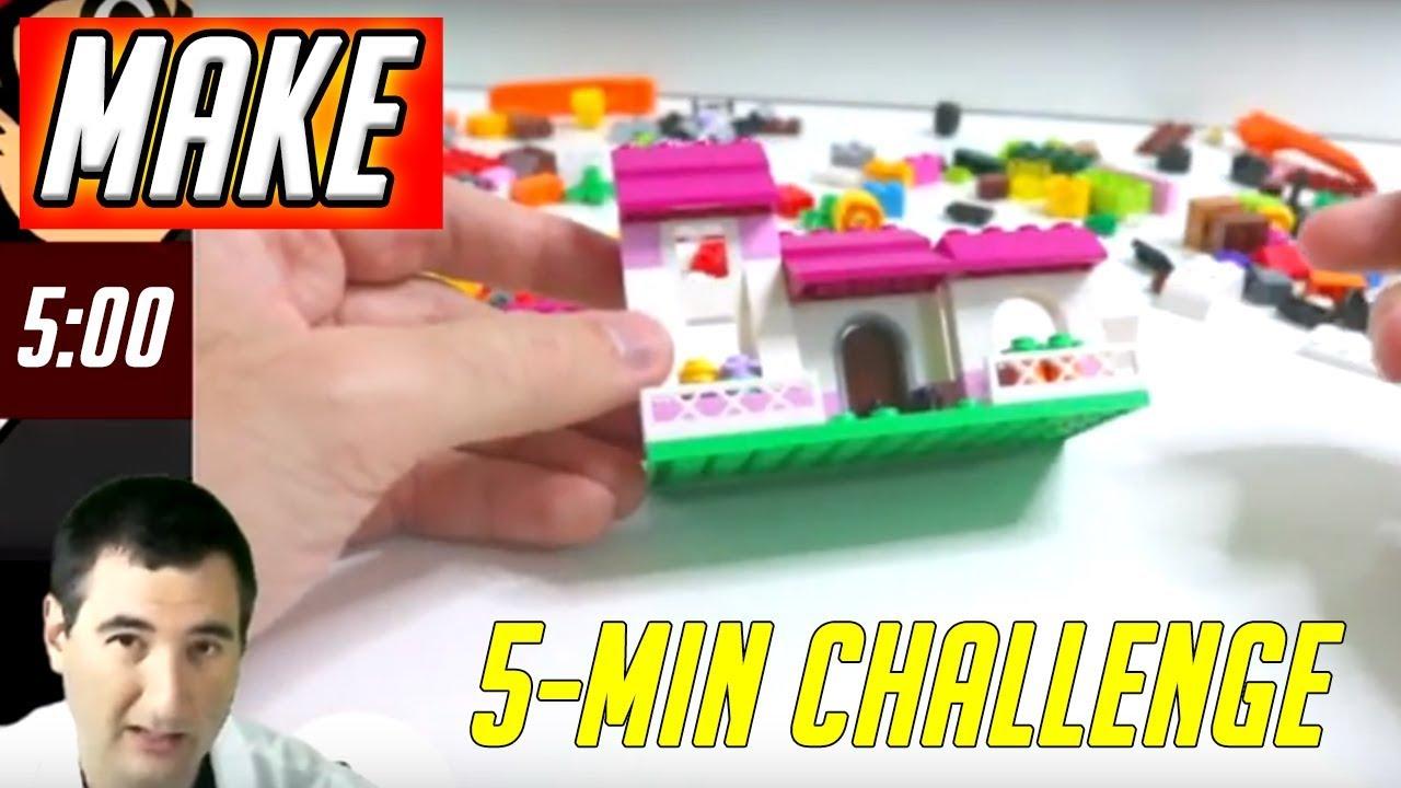 LEGO 5 Minute Challenge #6 - House - Classic Creative Bricks 10692 Daily  Vlog
