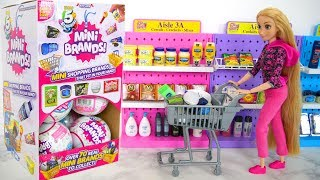 Mini Brands by Zuru Grocery Items Opening barang kelontong Articles d'épicerie سلع البقالة