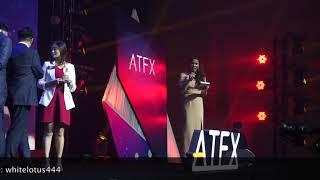 พิธีกรภาษาอังกฤษ-ไทย งานกาลาดินเนอร์ และการแจกรางวัล ATFX Thailand 1st Anniversary Gala Dinner 2019