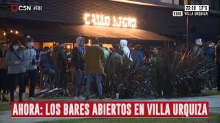 Villa Urquiza: Así están los bares del corredor gastronómico de la calle Donado