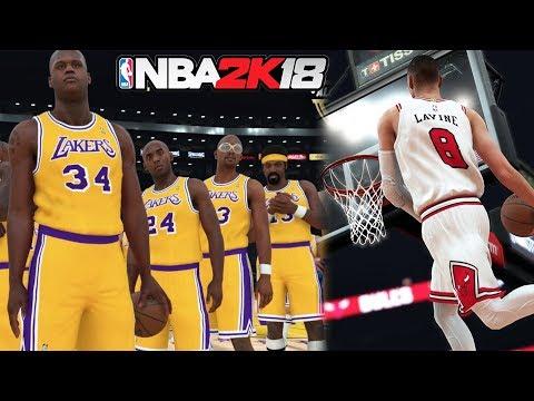 NBA 2k18 HUGE Screenshot & Ratings Drop #3! Legend All Time Lakers! Zach Lavine! 2k Disrespects Rose