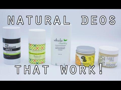 Top Five Natural Deodorants that WORK! // Vegan, Cruelty Free, Clean Deodorants!