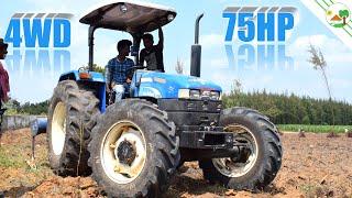 75 HP 4WD New Holland Tractor | Field work in soil Heavy work -TRACTORS in Villupuram