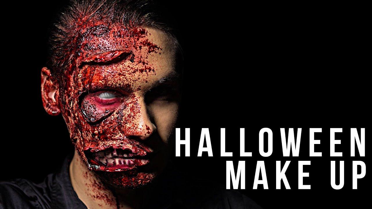 Halloween Make up Tutorial - Two Face - Deutsch - YouTube