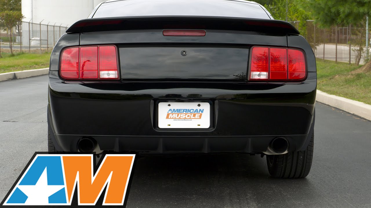 lth axle back exhaust with black tips 05 10 gt