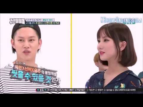 Eunha and Momo Aegyo Battle for Heechul