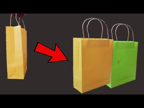 How Can Make Paper Bag with Chart Paper | Life Hacks | Chart crafts | Chart Items | M Vlog