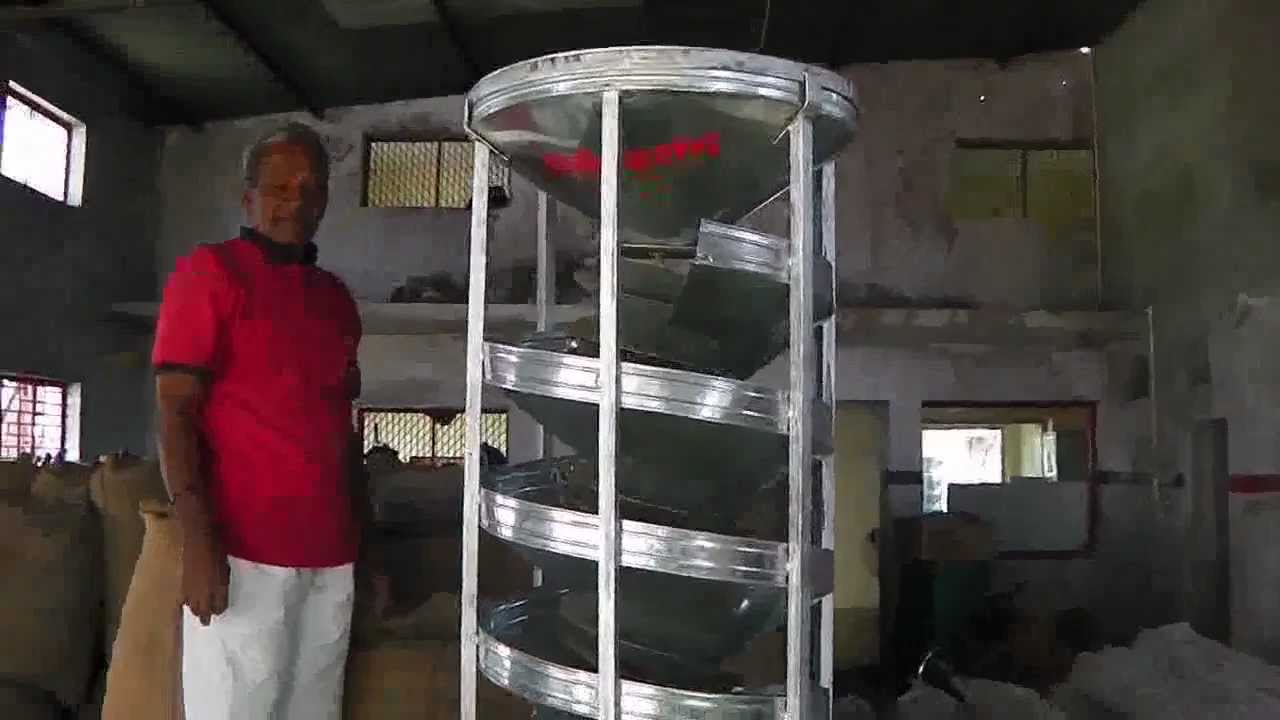 Car Wash Machine >> Best Spiral Separator, spiral grader, soybean cleaning machine hand operated - YouTube