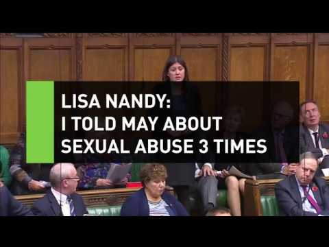 Nandy: I told May about sexual abuse by MPs 3 times