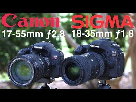 Sigma 18-35mm F1.8 Vs Canon 17-55mm F2.8