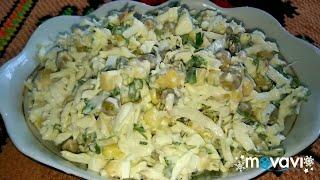Салат из пекинской капусты витаминный / Chinese cabbage salad /Салата з пекінскай капусты #вкусняшки