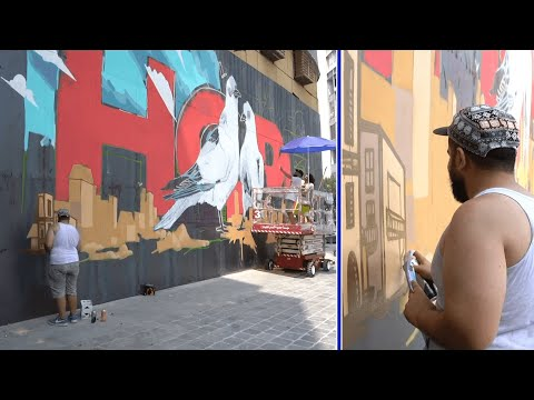 Lebanese artists use graffiti to restore hope in Beirut