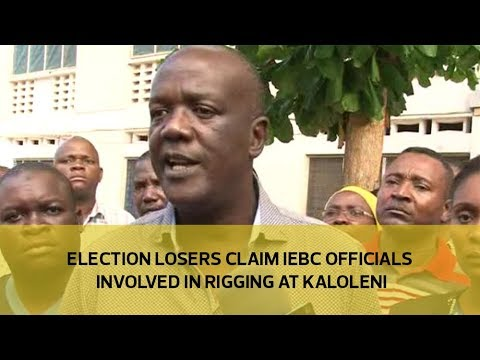 Election losers claim IEBC officials involved in rigging at Kaloleni