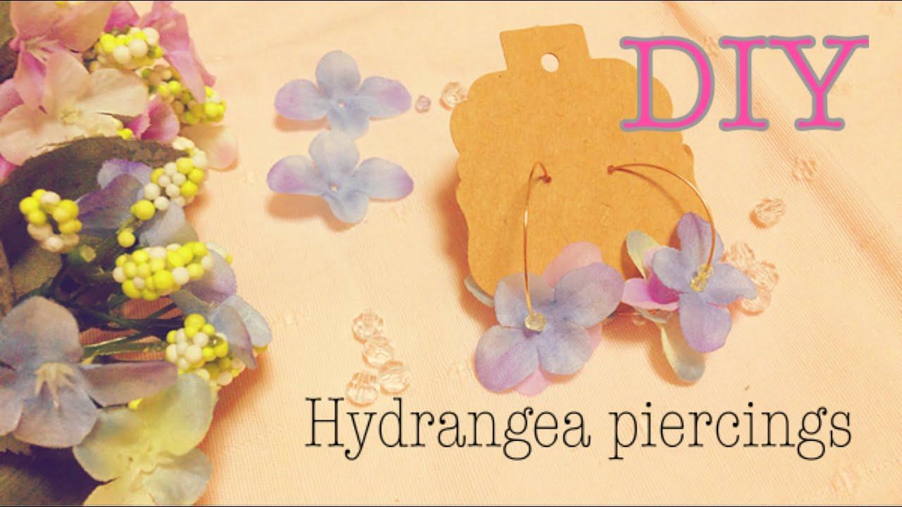 DIY  100均の造花で『あじさいピアス』を作る*Hydrangea Piercings , YouTube
