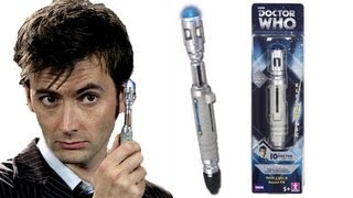 DOCTOR WHO Tenth Doctors Sonic Screwdriver (Re-Release) Toy Review | Votesaxon07