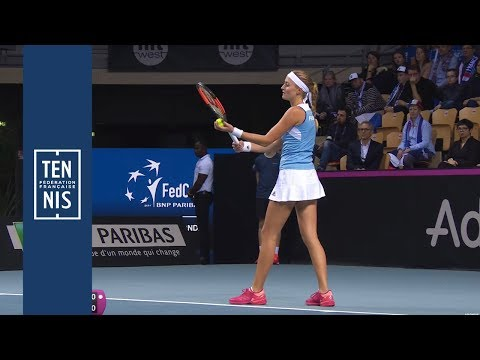 Fed Cup #FRABEL : highlights Mladenovic vs Mertens