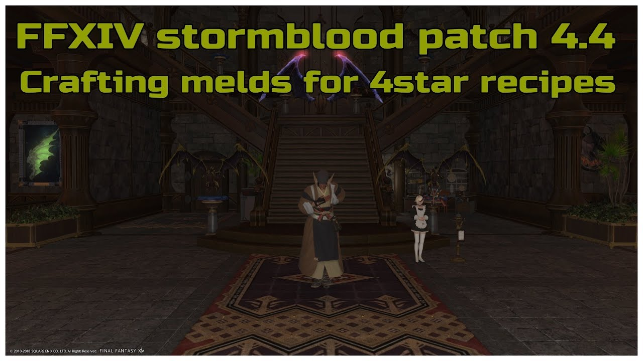 FFXIV stormblood patch 4 4 Crafting melds for 4star recipes