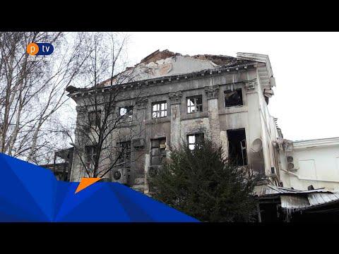 PTV Полтавське ТБ: Будівля колишнього кінотеатру продовжує руйнуватися, окрім даху обвалюється горище та тинькування