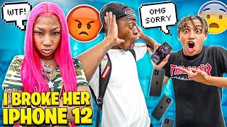 I BROKE MY BESTFRIEND'S NEW IPHONE 12! *goes crazy*