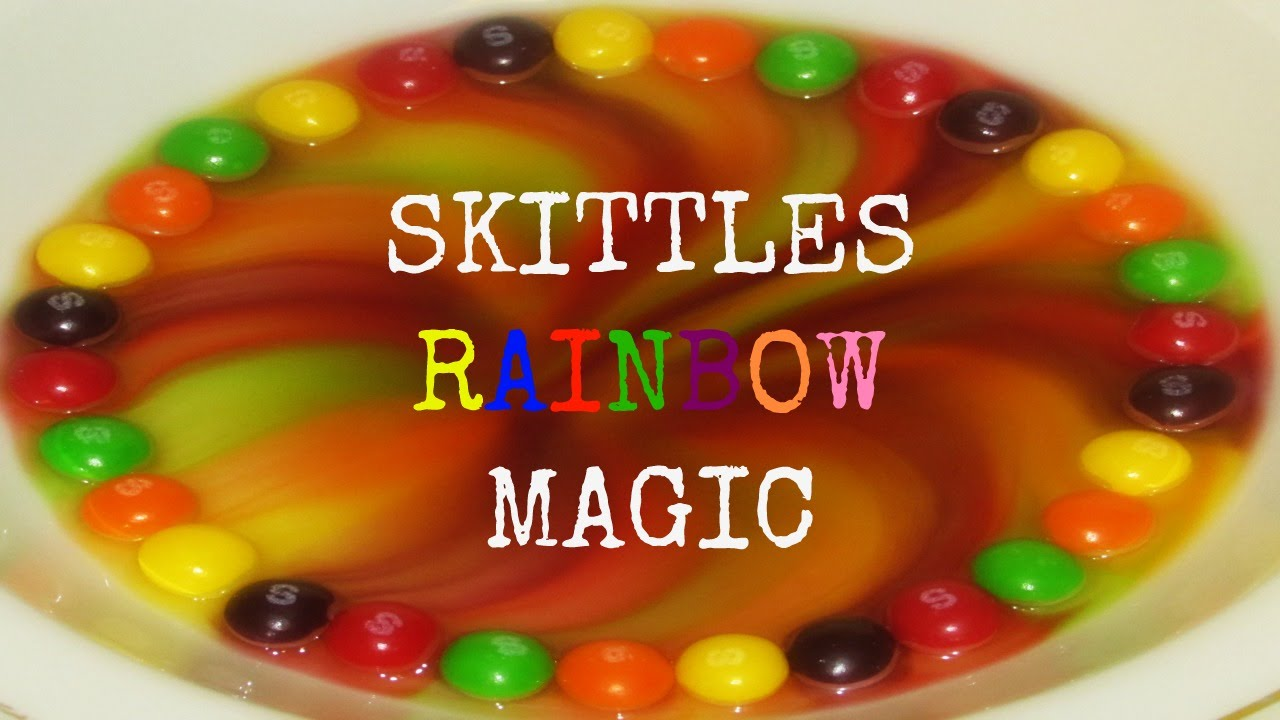 how to make a skittles rainbow