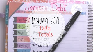 JANUARY 2019 DEBT TOTALS! || Snowball Method || Dave Ramsey Inspired
