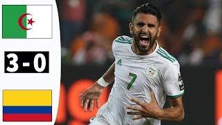 أهداف مباراة المنتخب الجزائري و المنتخب الكولمبي أهداف عالمية !!! تالق رياض محرز بهدلهم!!