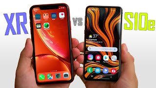 Galaxy S10e vs iPhone XR - Real World Differences