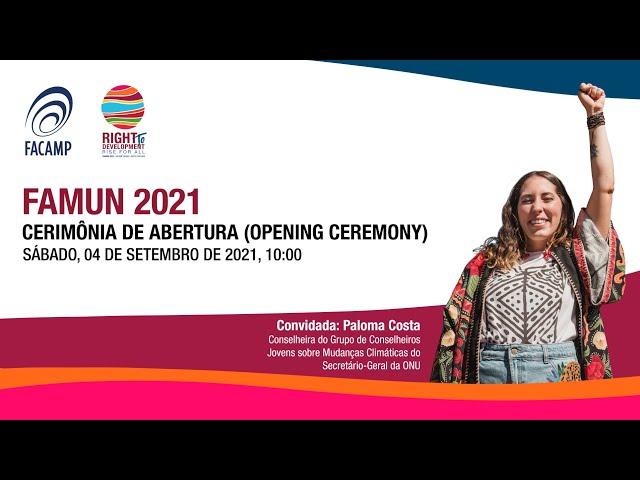 FAMUN 2021 - Cerimônia de abertura (Opening Ceremony)