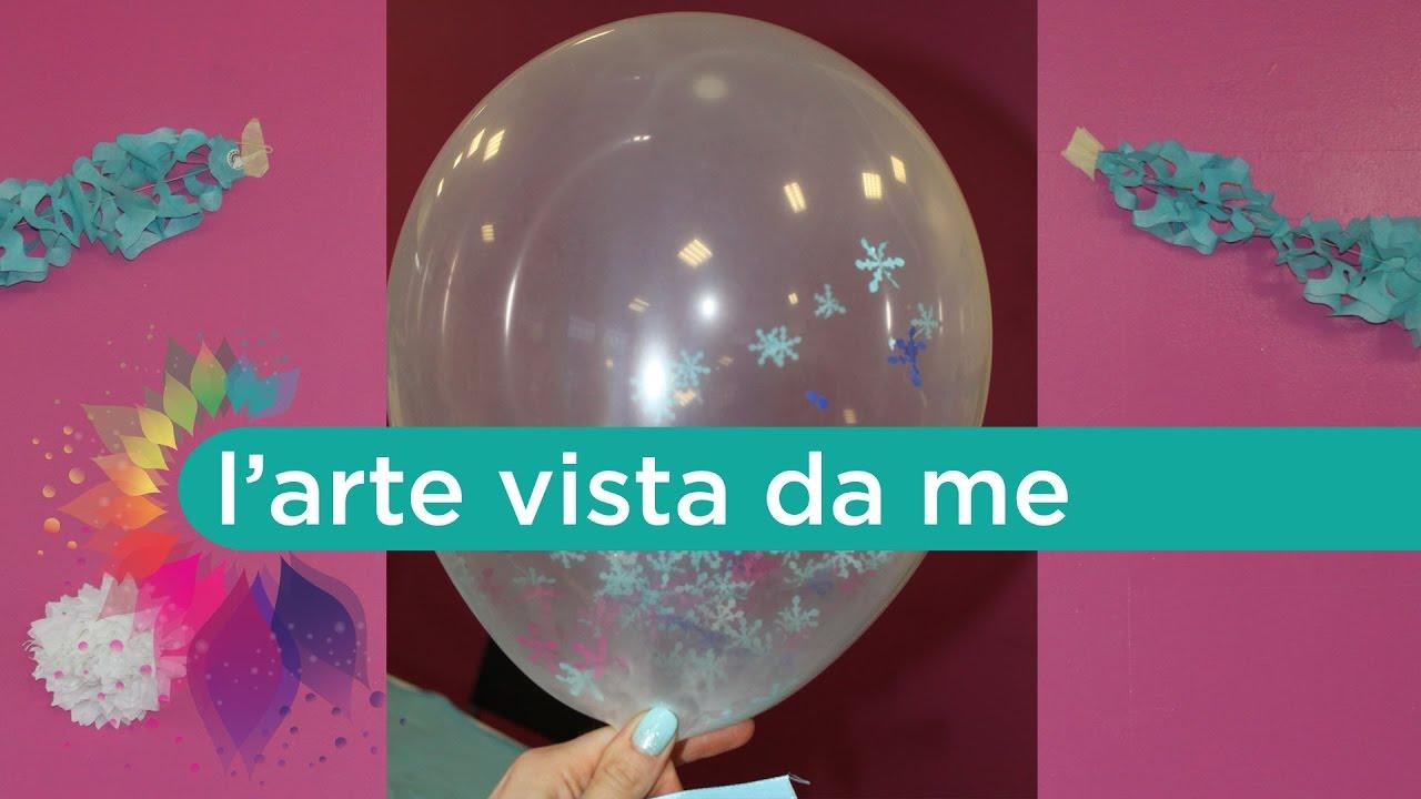 Palloncini Frozen Fai Da Te Confetti Frozen Balloons Diy Feste Di