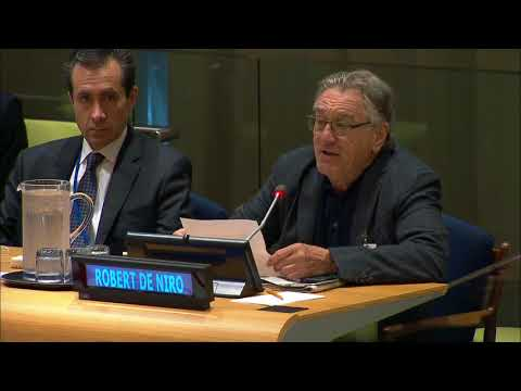 Robert De Niro remarks on Hurricane Irma - United Nations