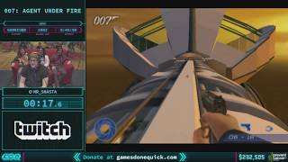 007: Agent Under Fire by Mr_Shasta in 44:12 - AGDQ 2018 - Part 36