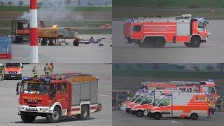 [Flugzeugabsturz Airport Calden] Großübung Feuerwehr & Rettungsdienst mit 150 Einsatzkräften