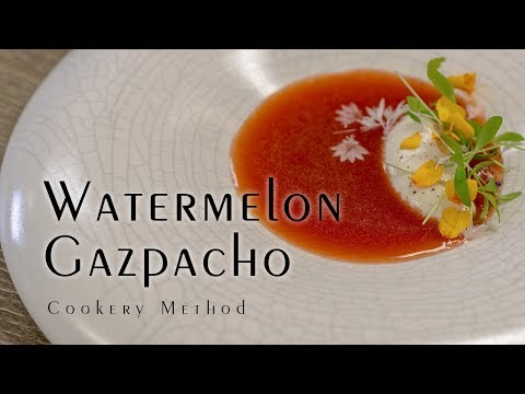 Watermelon Gazpacho Beautiful vegan meal idea for summer! -