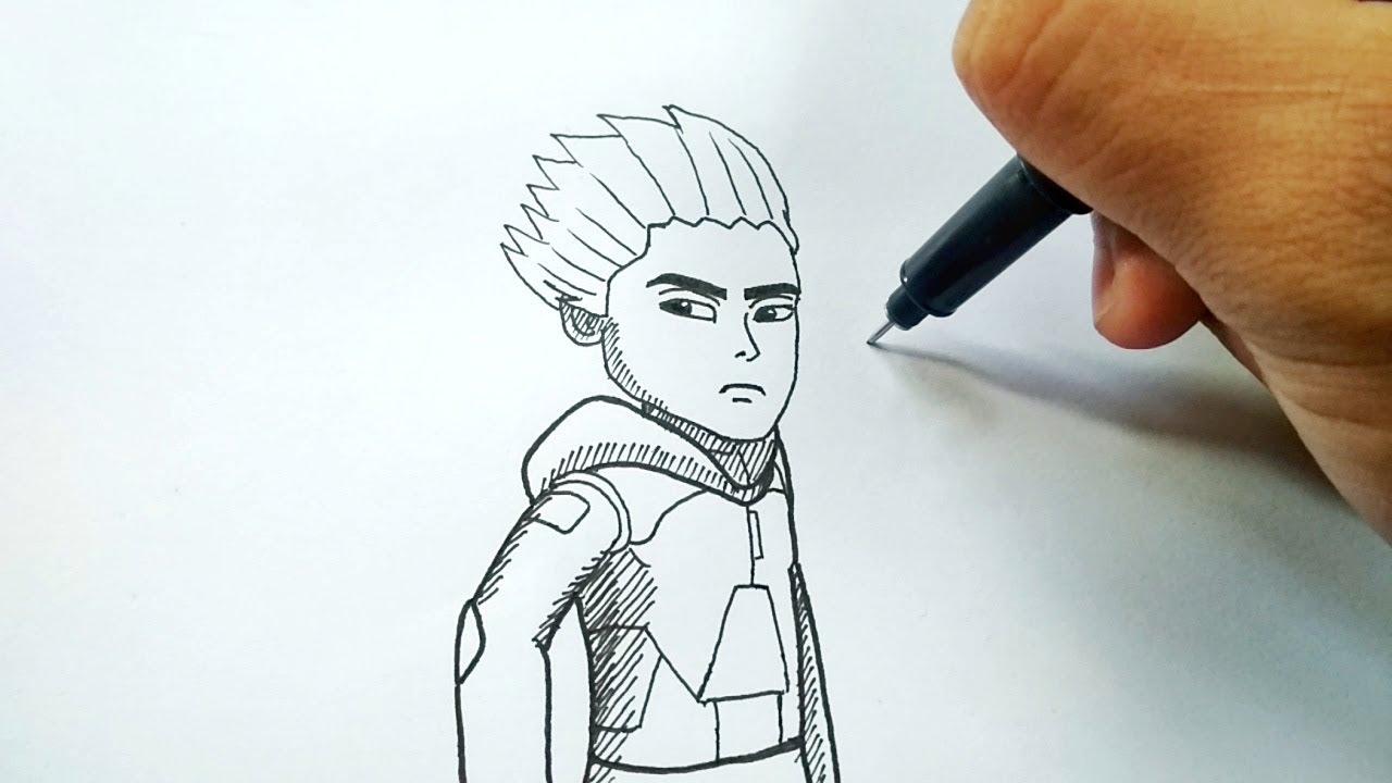 Menggambar Ejen Rudy Versi Kartun 2D Animasi Ejen Ali Musim 2