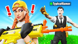 My Girlfriend STOLE my Fortnite NERF Blaster! (Boy vs Girl)