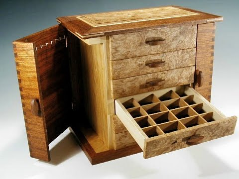 Handmade wooden jewelry box youtube for Jewelry box made of wood