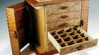 http://www.stevesmithboxes.com These handcrafted jewelry boxes are hand made of the finest woods, and not only function as