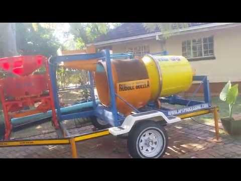 First test run of the RG30, Mobile Gold Wash Plant in Zimbabwe
