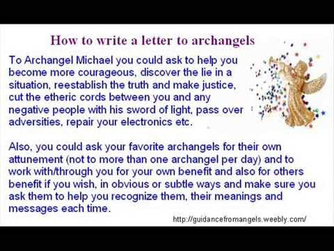 How To Write A Letter To Archangels