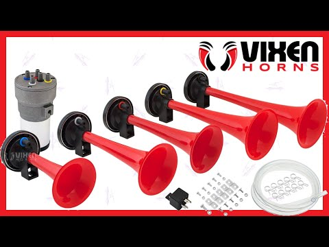 📢 VIXEN HORNS VXH6801R Dixie Musical Air Horn Red 🔥