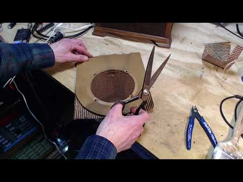 Replacing Three Tube Radio Speaker Grill Cloths
