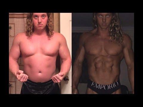 Body Transformation 1 Year Fat to Shredded Devon Palombo