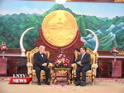 Lao NEWS on LNTV: President receives credentials of 7 new foreign ambassadors to Laos.17/11/2014