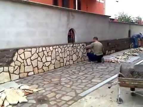 Rivestimento in pietra di trani roma youtube - Rivestimento per esterno in pietra ...