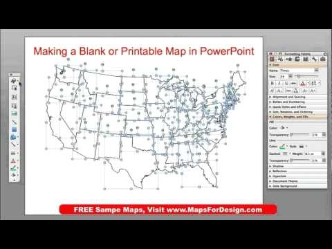 How To Make A Printable Blank Outline Usa Or World Map From Powerpoint Mapsfordesign Com
