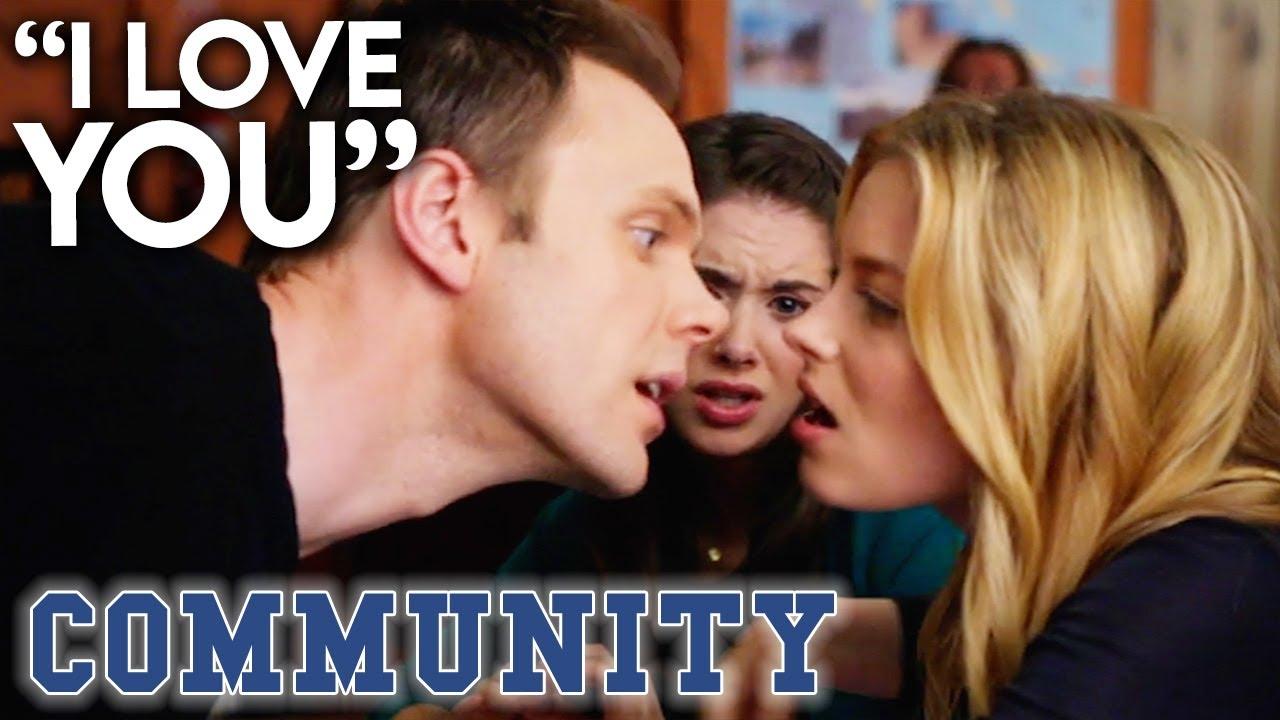Jeff Professes His Love For Britta | Community