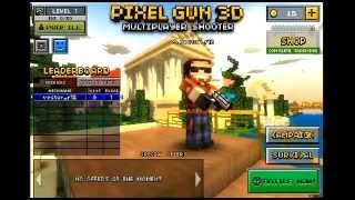 Haciendo el tutorial de pixel gun 3D.