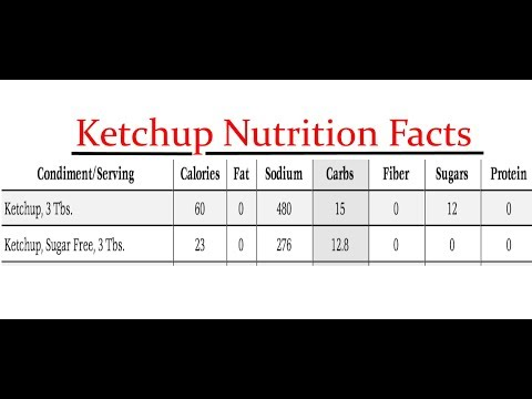 ketchup benefits and nutrition facts