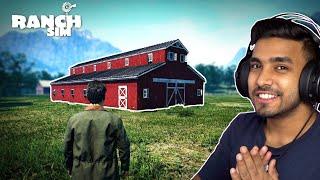 I BUILD AN ULTRA GIANT BARN HOUSE | RANCH SIMULATOR GAMEPLAY #11